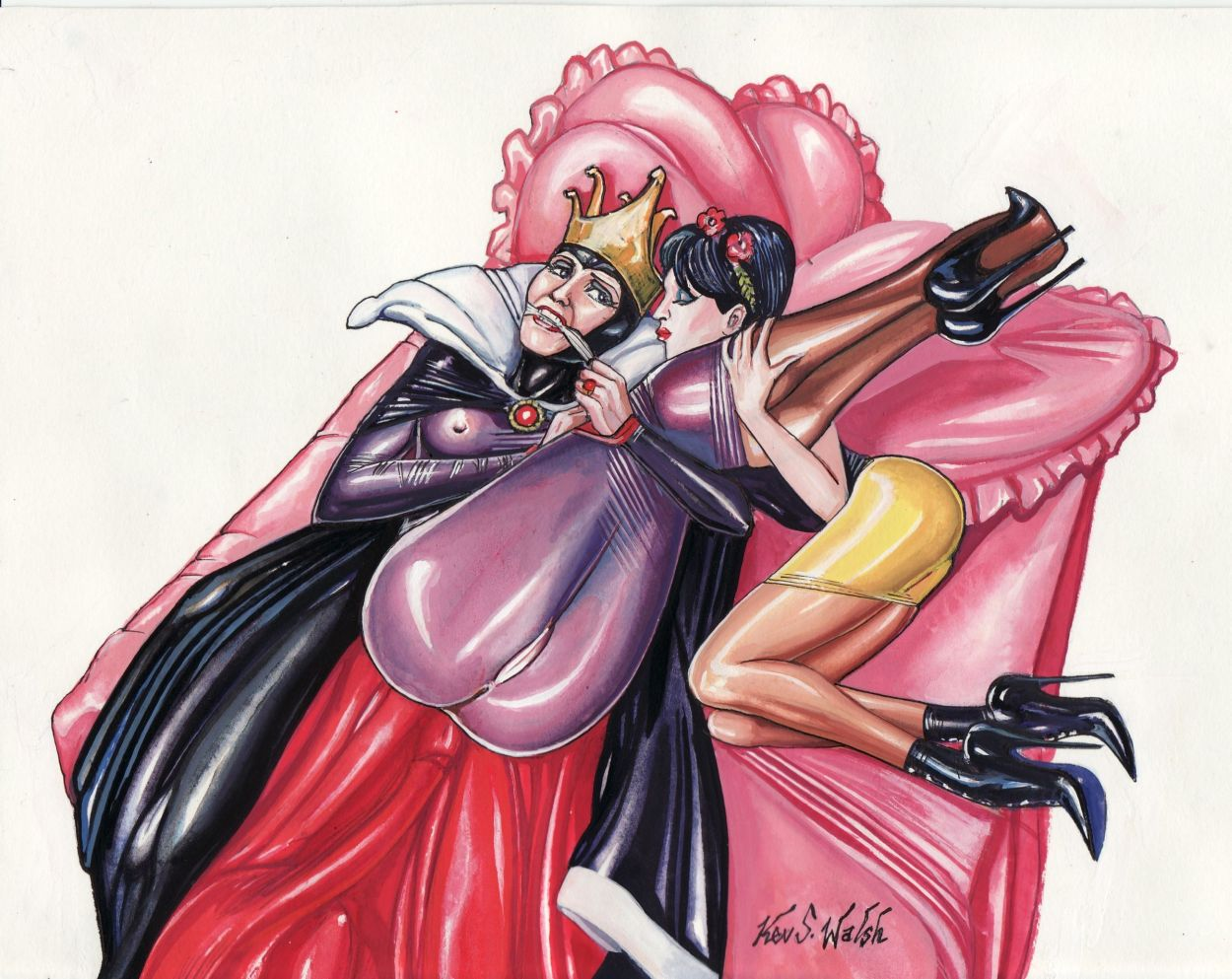 the demon and the mage queen The huntress risk of rain 2
