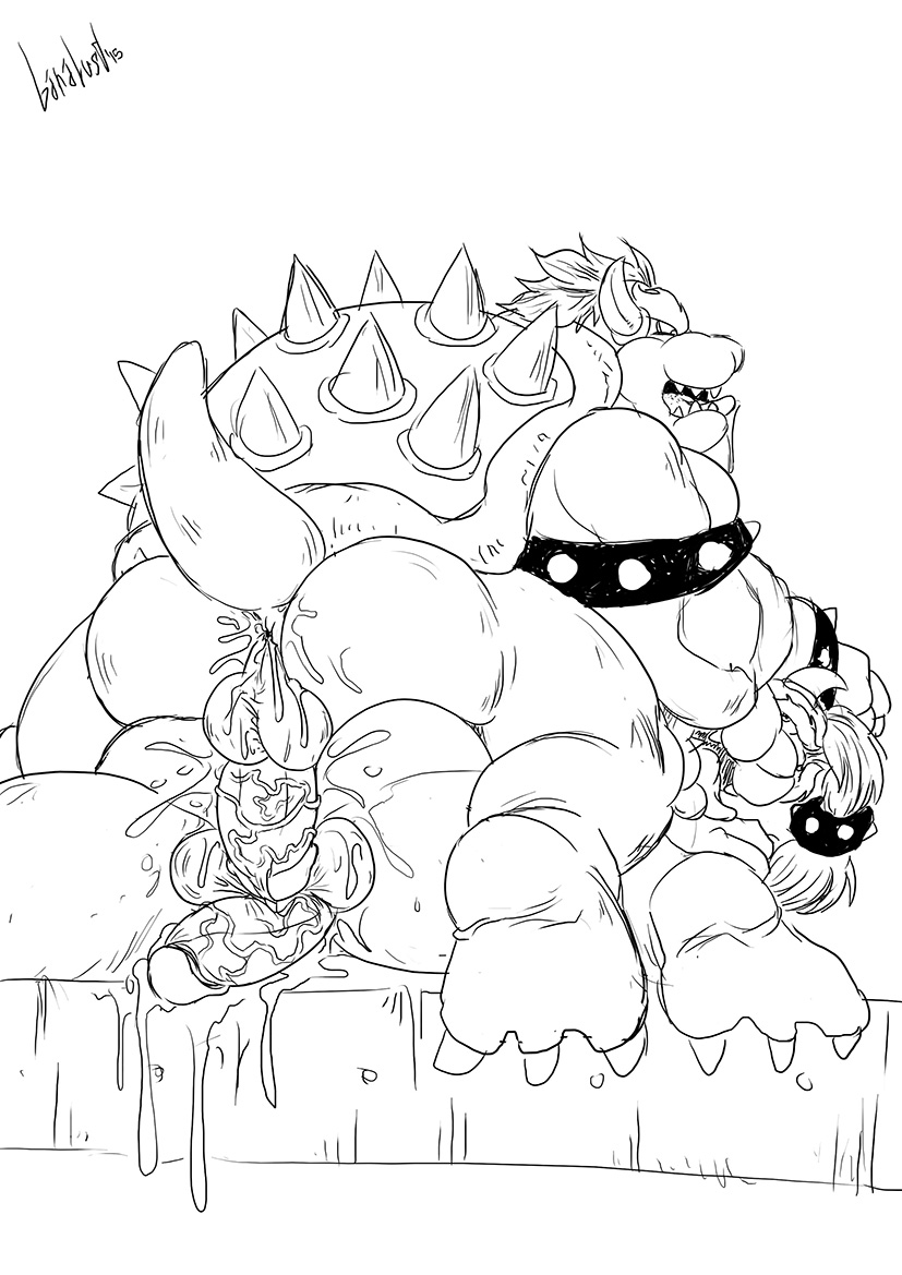 bowser jr day a with King of the hill donna